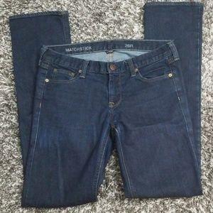 JCrew Matchstick dark Reg Straight leg jeans sz 28